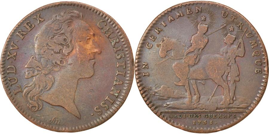 World Coins - France, Royal, Token, , Copper, 28, Feuardent #597, 6.90
