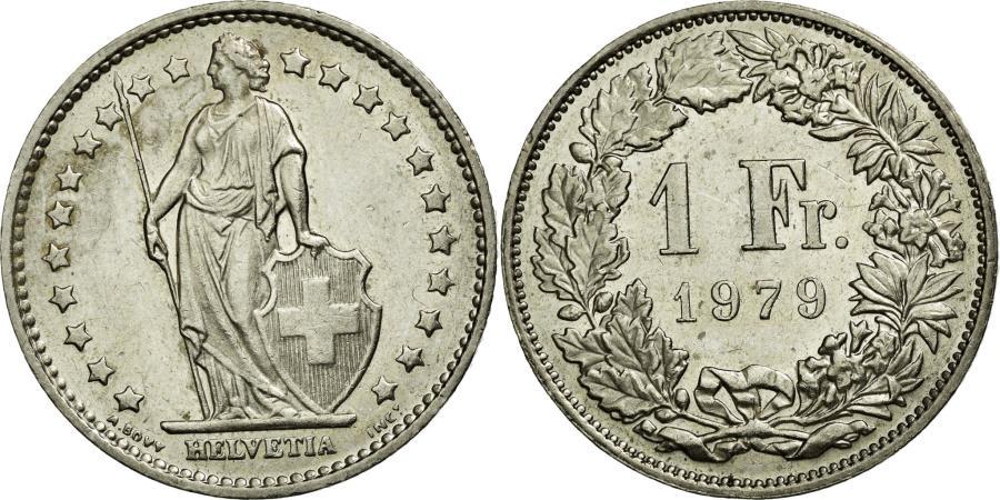 World Coins - Coin, Switzerland, Franc, 1979, Bern, AU(55-58), Copper-nickel, KM:24a.1