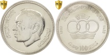 World Coins - Morocco, al-Hassan II, 100 Dirhams, 1983, PCGS, MS64, KM:75