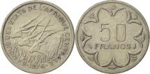 World Coins - Central African States, 50 Francs, 1976, Paris, AU(55-58), Nickel, KM:11