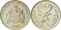 World Coins - GAMBIA, THE, 50 Bututs, 1998, AU(55-58), Nickel plated steel, KM:58