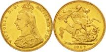 World Coins - Great Britain, Victoria, Sovereign, 1887, AU(55-58), Gold, KM:767