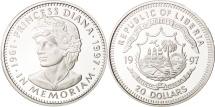 World Coins - Liberia, 20 Dollars, 1997, MS(65-70), Silver, KM:417