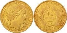 World Coins - France, Cérès, 10 Francs, 1851, Paris, VF, Gold, KM:770, Gadoury:1012