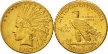 Us Coins - United States, Indian Head, $10, Eagle, 1910, Denver, AU(55-58), KM 130