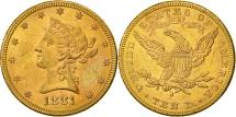 Us Coins - Coin,United States,Coronet Head,$10,Eagle,1881,San Francisco,AU(50-53),KM 102