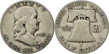 Us Coins - United States, Franklin Half Dollar, Half Dollar, 1951, U.S. Mint, San
