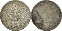 Morocco, 'Abd al-Aziz, 1/2 Rial, 5 Dirhams, 1903, Paris, EF(40-45), Silver