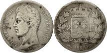 Ancient Coins - France, Charles X, 2 Francs, 1825, Strasbourg, VG(8-10), Silver, KM:725.3