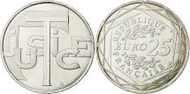 World Coins - France, 25 Euro, Justice, 2013, MS(63), Silver