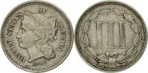 Us Coins - United States, Nickel 3 Cents, 1866, Philadelphia, AU(50-53), KM 95