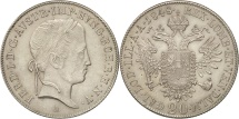 Austria, Ferdinand I, 20 Kreuzer, 1848, Vienne, MS(63), Silver, KM:2208
