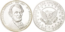 Us Coins - United States, Medal, Abraham Lincoln, MS(65-70), Copper Plated Silver