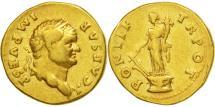 Titus, Aureus, Rome, EF(40-45), Gold, RIC:696