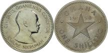 World Coins - Ghana, Shilling, 1958, MS(63), Copper-nickel, KM:5