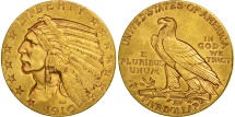 Us Coins - United States, Indian Head, $5, 1910, San Francisco, AU(50-53), Gold, KM 129