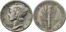 Us Coins - United States, Mercury Dime, Dime, 1943, U.S.Mint,Philadelphia,EF(40-45),KM 140