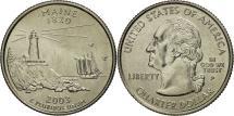 Us Coins - United States, Maine, Quarter, 2003, Philadelphia, MS(63), Copper-Nickel