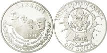 Us Coins - United States, Dollar, Mount Rushmore, 1991, MS(65-70), Silver, KM:229