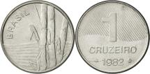 World Coins - Brazil, Cruzeiro, 1982, AU(55-58), Stainless Steel, KM:590