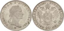 World Coins - Austria, Franz II (I), 20 Kreuzer, 1831, Mailand, AU(55-58), Silver, KM:2147