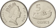 World Coins - Fiji, Elizabeth II, 5 Cents, 2006, MS(65-70), Nickel plated steel, KM:51a
