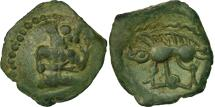 Ancient Coins - Bellovaci, Bronze with character kneeling and boar, AU(50-53), Delestrée:317
