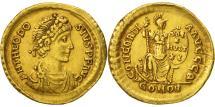 Theodosius I, Solidus, Thessalonica, AU(50-53), Gold, RIC:53