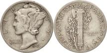 United States, Mercury Dime, Dime, 1944, U.S. Mint, Denver, VF(30-35), Silver
