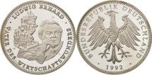 World Coins - Germany, Medal, Ludwig Erhard, Vater des Wirtschaftswunders, History, 1992