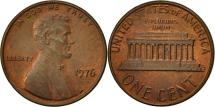Us Coins - United States, Lincoln Cent, Cent, 1976, U.S. Mint, Philadelphia, EF(40-45)