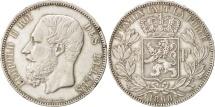 Belgium, Leopold II, 5 Francs, 5 Frank, 1868, EF(40-45), Silver, KM:24