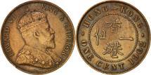 World Coins - Hong Kong, Edward VII, Cent, 1902, EF(40-45), Bronze, KM:11