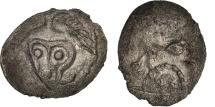 Andécaves, Obole du pont de la Chaloire, 80-50 BC, EF(40-45), Billon