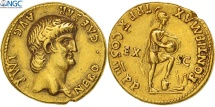 Nero, Aureus, Rome, graded, NGC, Ch XF 5/3, Gold, RIC:42