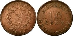 World Coins - Coin, FRENCH STATES, ANTWERP, 10 Centimes, 1814, Anvers, , Bronze