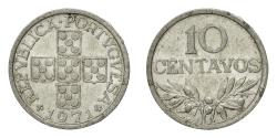 World Coins - Coin, Portugal, 10 Centavos, 1971, , Aluminum, KM:594