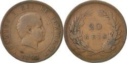 World Coins - PORTUGAL, 20 Reis, 1892, KM #533, , Bronze, 30, 11.40