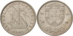World Coins - Portugal, 5 Escudos, 1983, , Copper-nickel, KM:591
