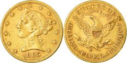 Us Coins - Coin, United States, Coronet Head, $5, Half Eagle, 1905, U.S. Mint, San