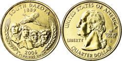 Us Coins - Coin, United States, South Dakota, Quarter, 2006, U.S. Mint, Denver, golden