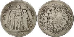 World Coins - Coin, France, Union et Force, 5 Francs, 1798, Paris, VF(30-35), Silver
