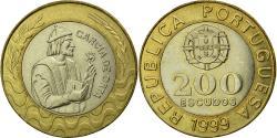 World Coins - Coin, Portugal, 200 Escudos, 1999, EF(40-45), Bi-Metallic, KM:655