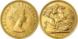 World Coins - Coin, Great Britain, Elizabeth II, Sovereign, 1958, , Gold, KM:908
