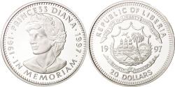World Coins - Liberia, 20 Dollars, 1997, , Silver, KM:417