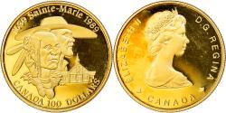 World Coins - Coin, Canada, Elizabeth II, 100 Dollars, 1989, Royal Canadian Mint, Ottawa