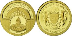 World Coins - Coin, Gabon, Première guerre mondiale, 1000 Francs, 2014, , Gold
