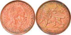 World Coins - Coin, Ethiopia, Menelik II, 1/32 Birr, 1889, , Copper Or Brass, KM:11