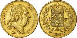 World Coins - Coin, France, Louis XVIII, Louis XVIII, 40 Francs, 1818, Lille, , Gold