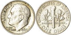 Us Coins - Coin, United States, Roosevelt Dime, Dime, 1964, U.S. Mint, Philadelphia